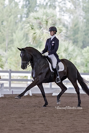 Caroline Roffman and Her Highness Rule at Wellington Classic Dressage Challenge 1