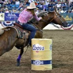 East Coast Rodeo Draws Respectible Competitors, Barrel Racer Post 13.9