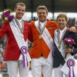 Dubbeldam Jeroen, Wathelet Gregory, Delestre SImon  Individual Final Competition FEI European Championships - Aachen 2015 © Hippo Foto - Dirk Caremans 23/08/15
